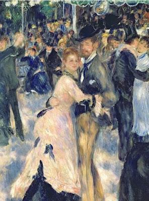 Ball at the Moulin de la Galette, 1876 (detail of 36481) - Pierre-Auguste Renoir