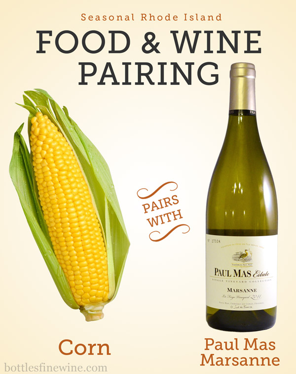 White wine that pairs with corn