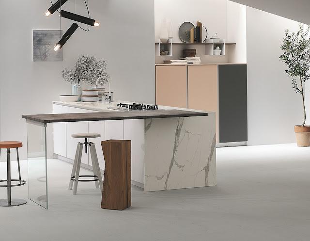 Materiali e colori ispirati alla natura... In cucina!