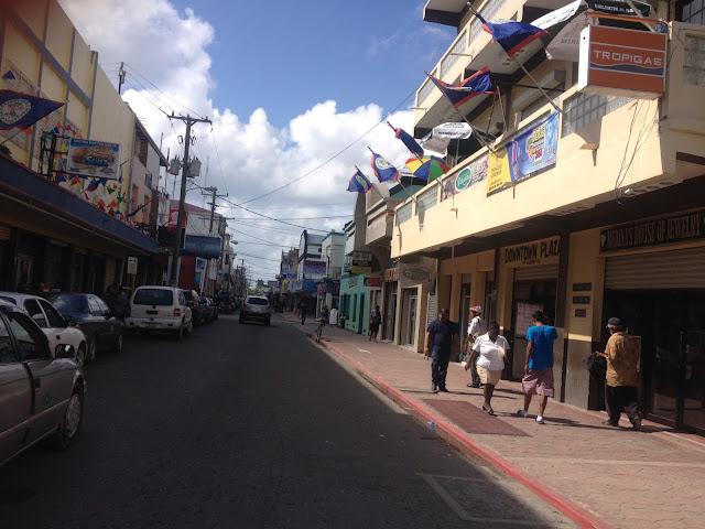 Belize keskustasta Albert street