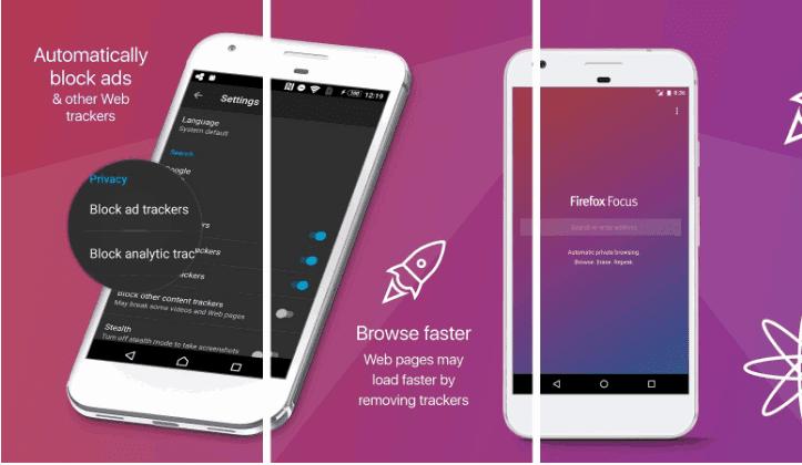 جديد فايرفوكس فَيَرفُكس فوكَس: المتصفح الخاص على متجر Play، يتيح لك تصفح الويب الخاص بيانات أقل وتحميل أسرع