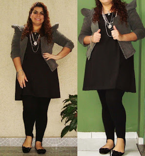 Look super antigo do Fofashions com ombro estruturado!