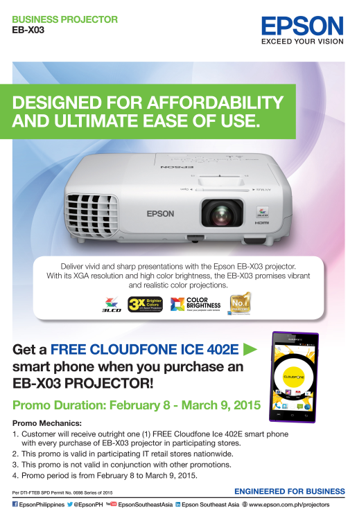 Epson FREE Cloudphone Projector Promo