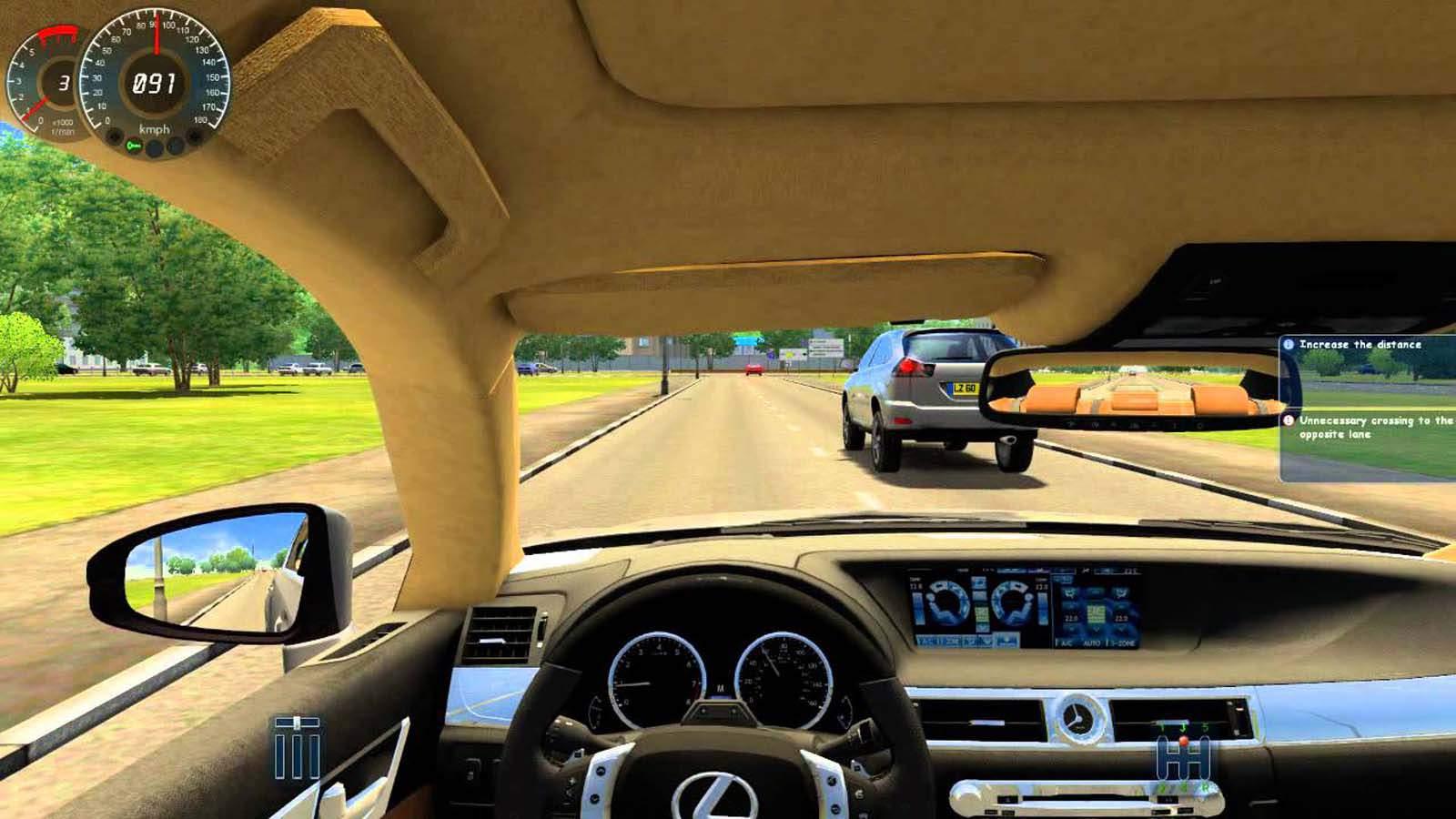 تحميل لعبة City Car Driving مضغوطة برابط واحد مباشر كاملة مجانا