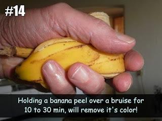 Banana Peels to Heal Bruises