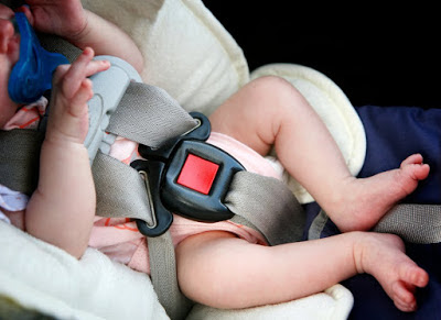 Warning: Experts say newborn babies should not use car seats for more than 30mins