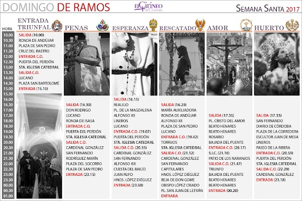 Librito, Horarios e Itinerarios Semana Santa Córdoba 2017: El Cirineo