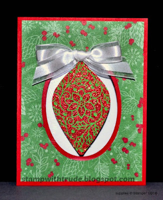 Embellished Ornaments, Christmas, Stampin' Up!, Tuesday Tutorial, Stamp with Trude, Window card