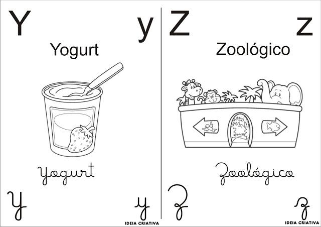Alfabeto Com Figuras Para Colorir So Escola