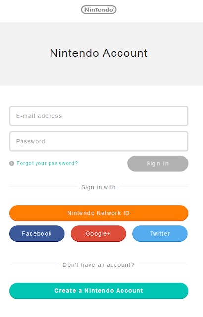 Nintendo Account log-in sign-in register account.nintendo.com