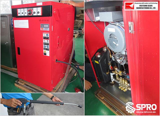 máy xịt rửa nước nóng okatsune