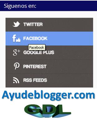 Como agregar un widget de redes sociales a blogger