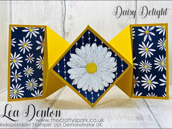 Daisy Delight Diamond Fold Card