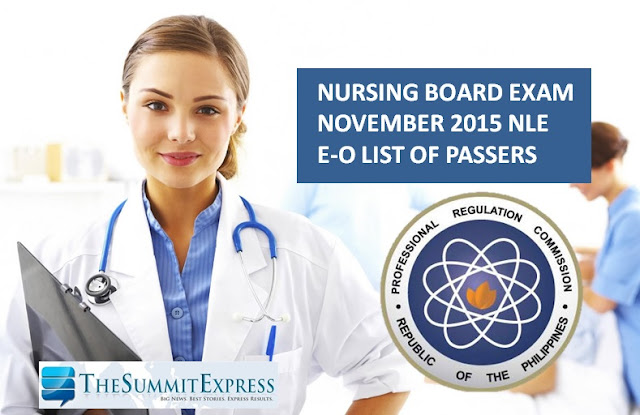 E-O Passers: NLE Results November 2015