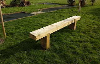 New bench at Splash Point Mini Golf course in Worthing