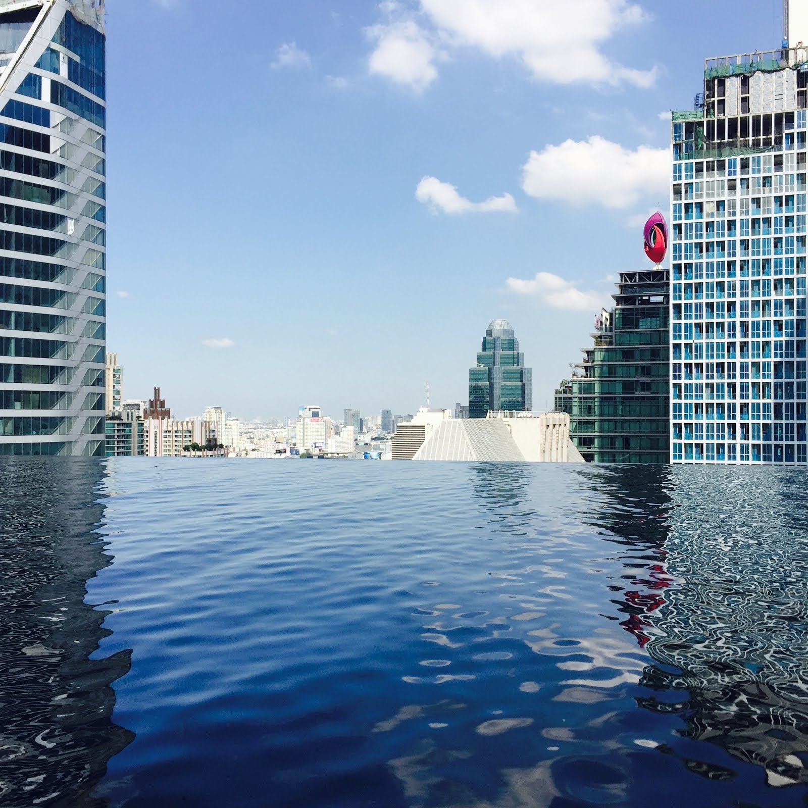 Infinity Pool at Hotel Okra in Bangkok
