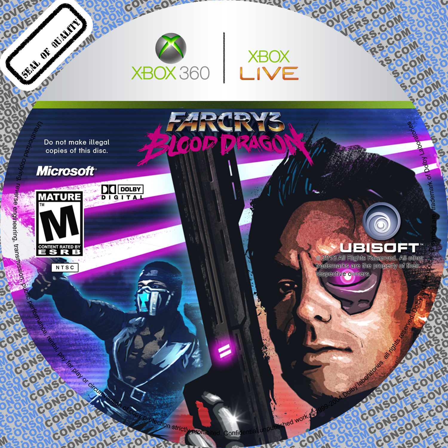 Label Far Cry 3 Blood Dragon Xbox 360 - Gamecover | Capas ...