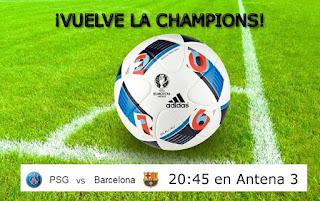 partido PSG Barcelona en directo