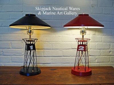 Vintage Marine Buoy Nautical Table Lamps That Restored. Skipjack Nautical  Wares U0026 Marine Art Gallery