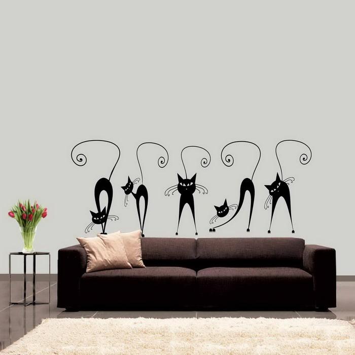 Cuadros modernos pinturas y dibujos c mo decorar paredes con gatos ideas en fotos Dibujos para paredes
