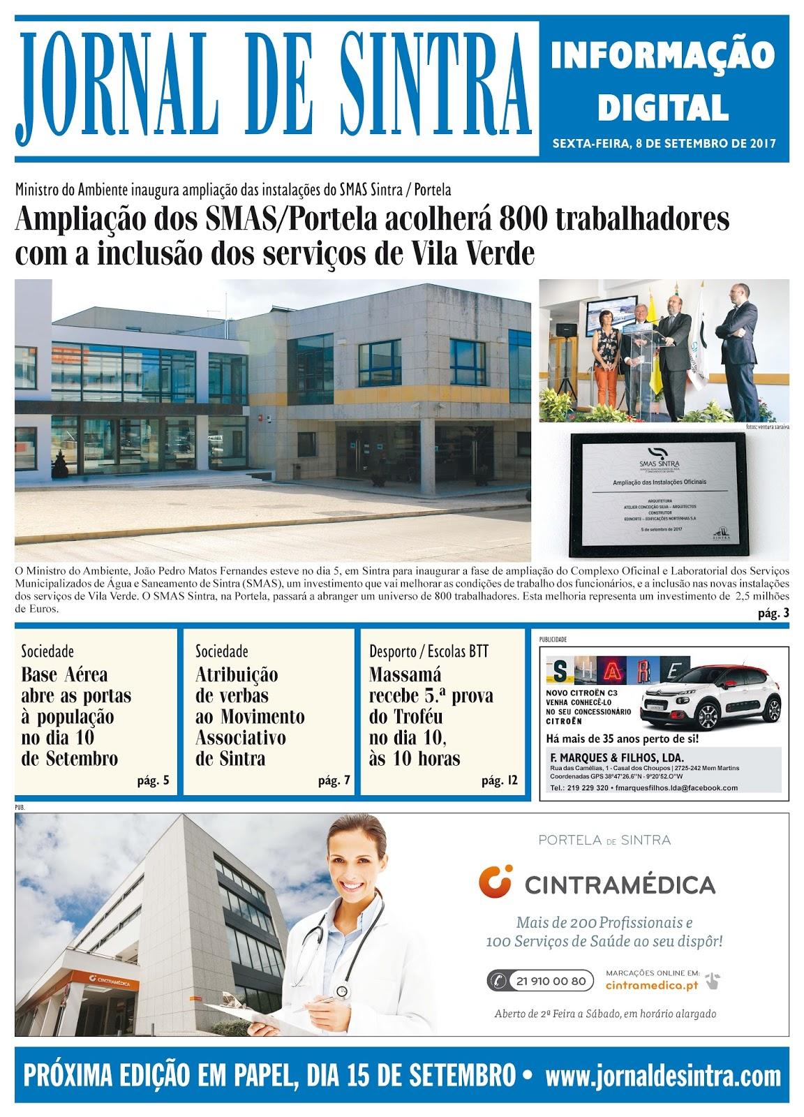 Capa da edição de 08-09-2017