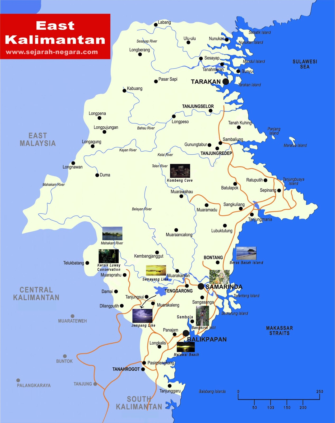 image: Map of East Kalimantan