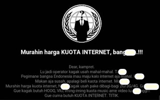 Pelaku hack website telkomsel mengeluarkan uneg-unegnya.