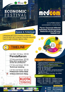 Lomba Debat Ekonomi Nasional MEDCOM 2018 di UIN Malang