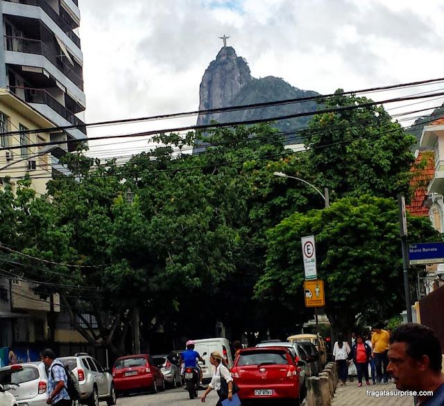 Cristo Redentor visto do Bairro de Botafogo