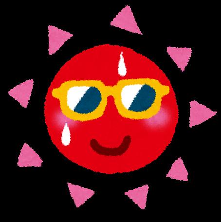 夏のイラストサングラスの太陽 かわいいフリー素材集 いらすとや