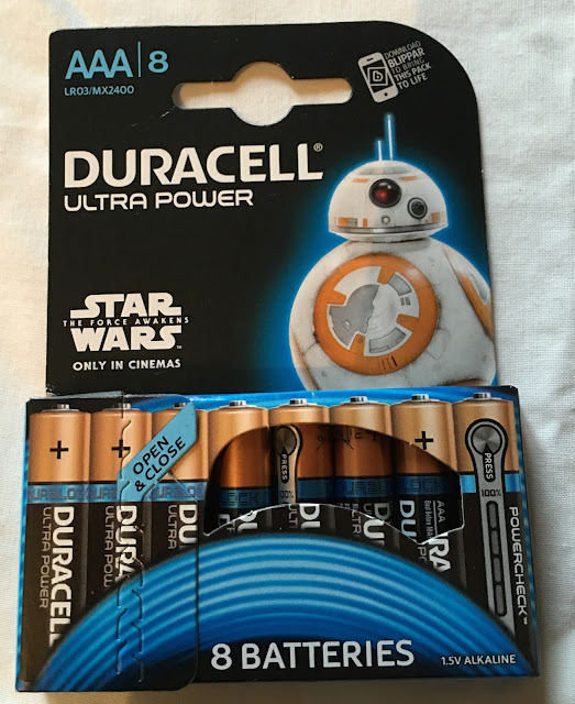 Star Wars The Force Awakens Limited Edition Duracell batteries
