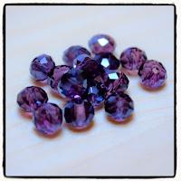 perles à facettes indigo