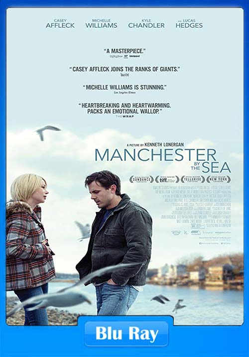 Manchester by the Sea 2016 720p BluRay Dual Audio Hindi ESubs x264 | 480p 300MB | 100MB HEVC Poster