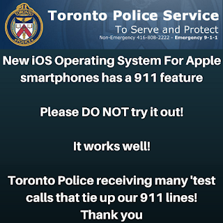 ios 11 SoS test emergency calls