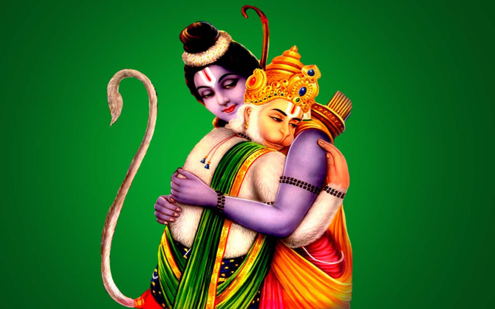 Hd wallpaper jai shri ram - Bhakta Hanuman Hug With Shree Ram Walls Images