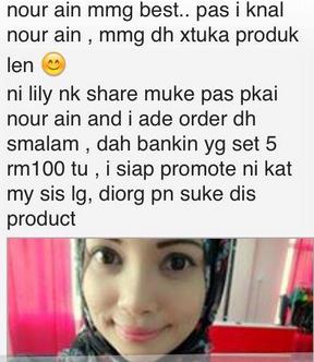 Testimoni Nour Ain Skincare