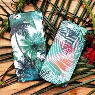 Carcasa personalizable palmeras