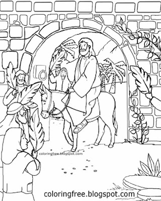 Easter celebration coloring pages kids clipart resurrection of Jesus printable palm Sunday drawings