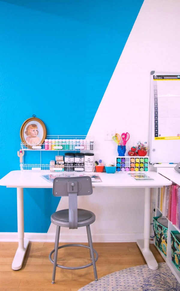 how to set up a crafting area in a tiny space