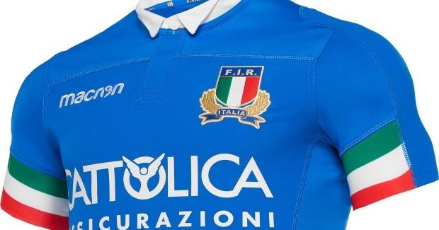 Macron divulga as novas camisas da seleção de rugby da Itália - Show de  Camisas 8b0903f5de813