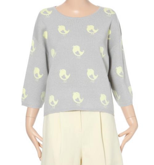LeShop Chick Pattern Knit Top