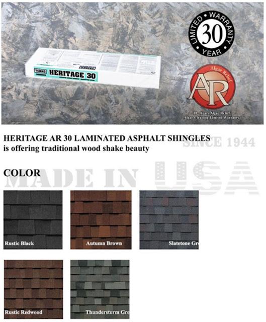 Tamko Tipe Heritage Harga Genteng Jenis Atap Sirap Aspal Bitumen