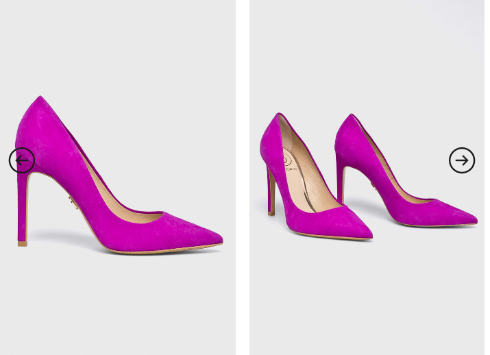 Baldowski - Pantofi cu toc din piele ntaurala intoarsa fucsia de ocazii foarte eleganti