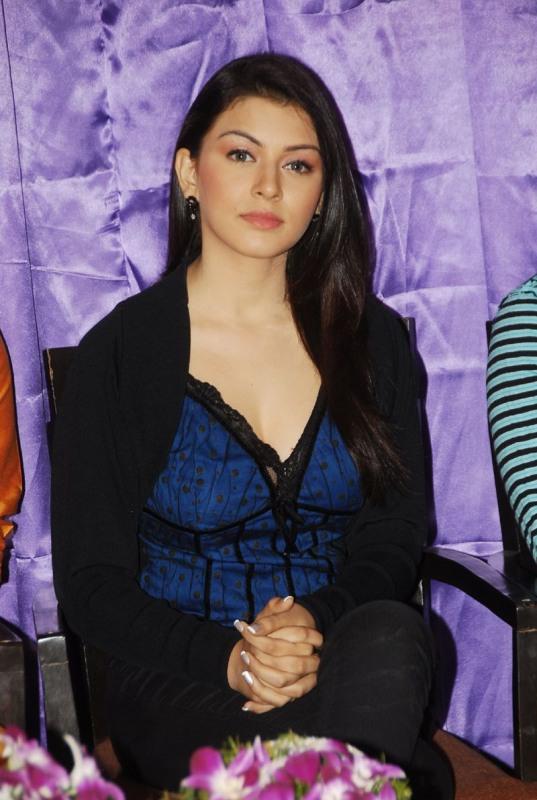 Tamil Actress Hansika Cute Latest Photos In Black Dress