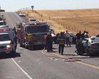 Stanislaus County Modesto Oakdale car crash highway 108 head-on ford truck sedan
