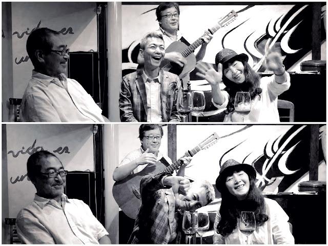 ファド化計画 左から:翠川敬基(vc)、喜多直毅(vln)、さがゆき(vo/gt)