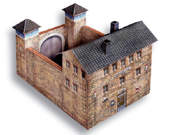 Free Scale Paper House Papermau: PAPERMAU: Prison With Two Watchtowers Paper Model In HO