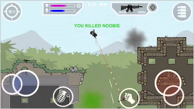 mini militia game screen shot