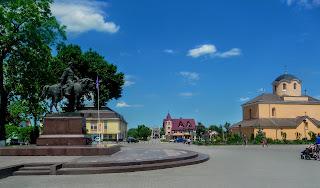 Галич. Івано-Франківська область. Майдан Різдва