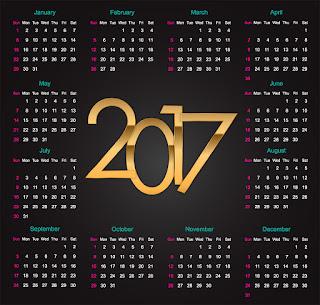 2017カレンダー無料テンプレート238